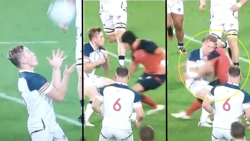 England should have been red carded in the first minute of their game against the USA