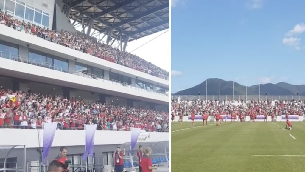 Scenes in Japan as Wales TRAIN in front of 15,000 people