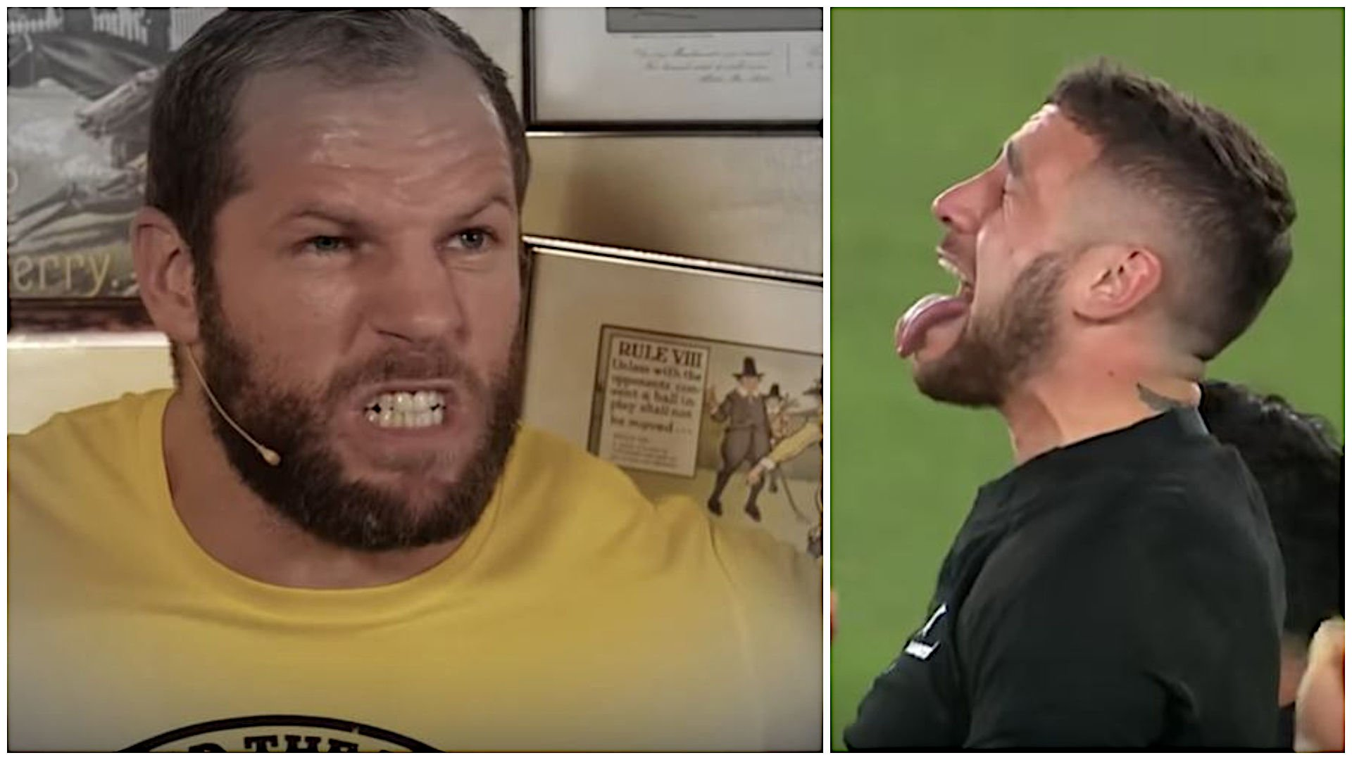 James Haskell destroys the Haka with inspired spew