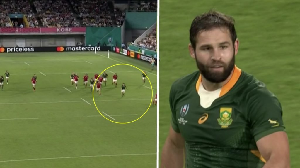 Cobus Reinach scores one of the most impressive solo tries of the World Cup