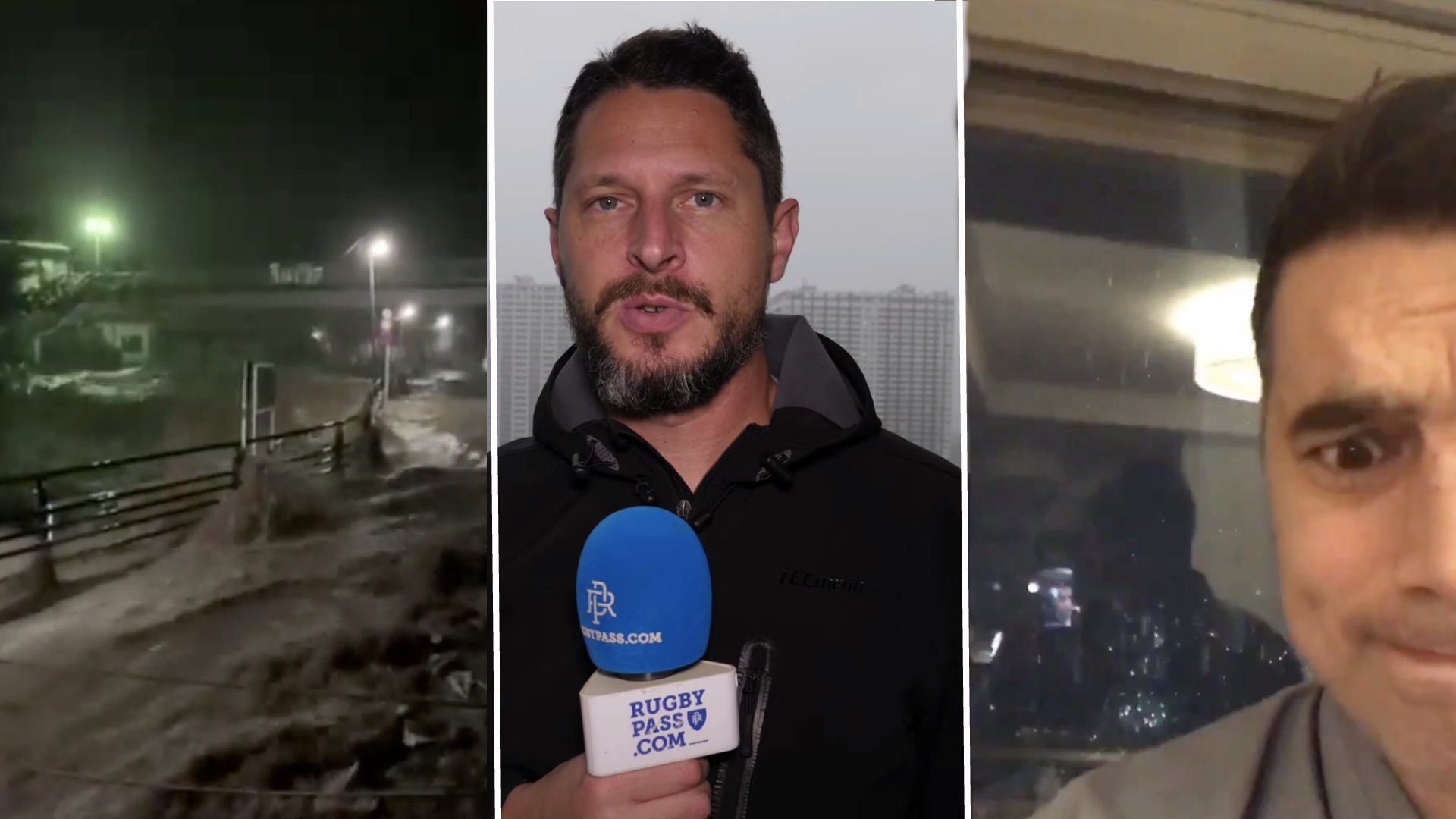 Players, fans and media share incredible footage of Typhoon Hagibis and it's devastation