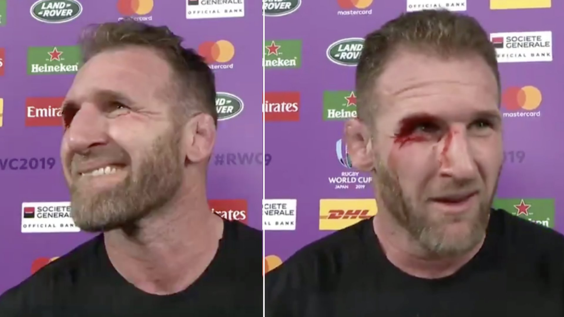 Kieran Read looks truly devastated in interview directly after loss to England