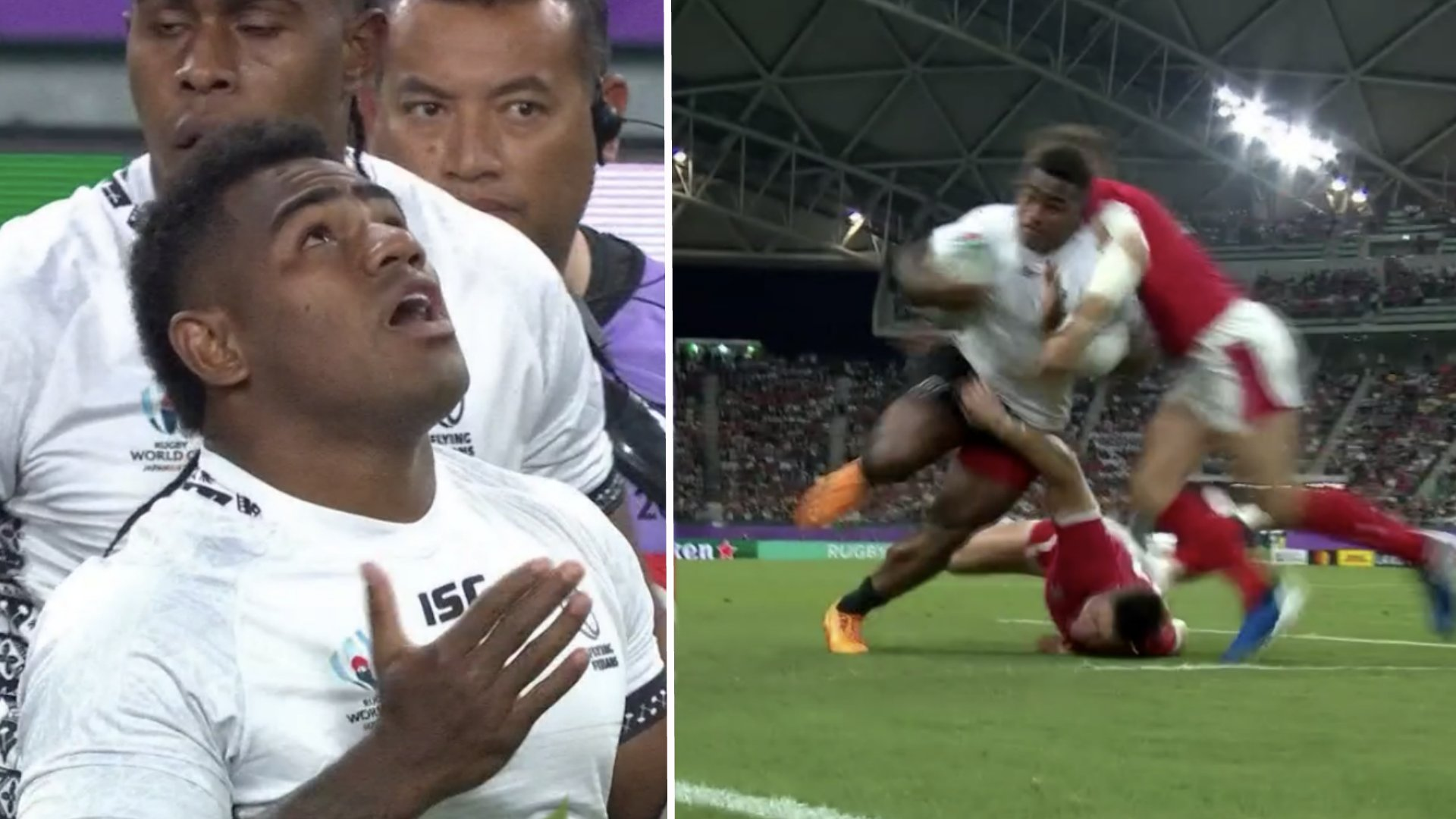 Josua Tuisova sends Welsh players into orbit with destructive try for Fiji