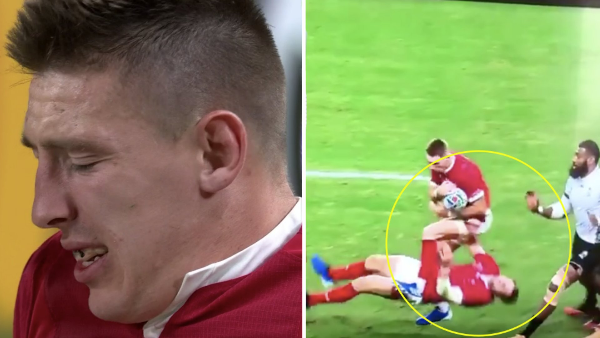 Biggar involved in brutal collision and Adams injured in TITANIC World Cup clash with Fiji