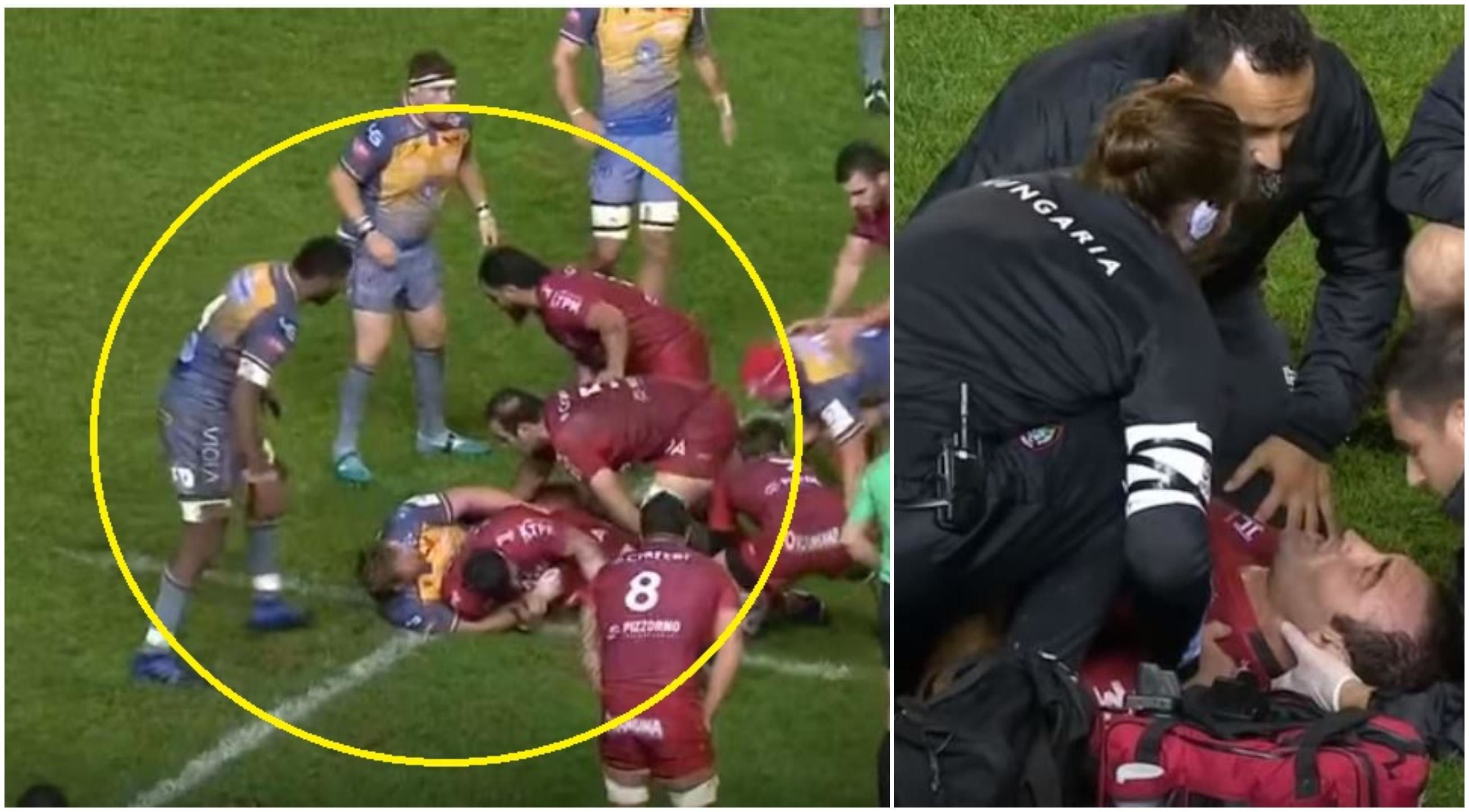 'We've found one' - Gorgodze floored by red card Fijian shoulder at the ruck