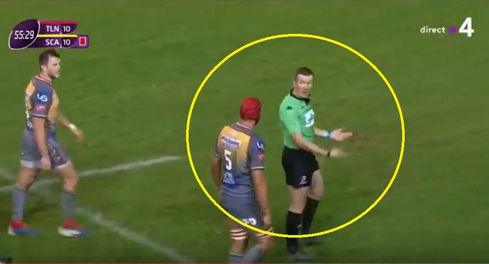 Audio Picks Up Why Ref Marched Scarlets Back 10m Like A Schoolboy Side Rugby Onslaught