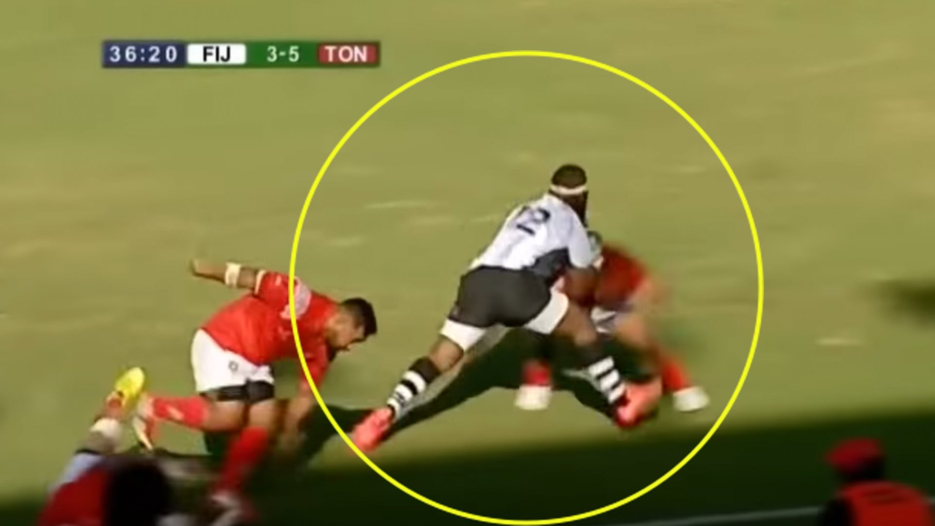 Terrifying new video is proof that Fijian Levani Botia is still the most powerful centre in the World