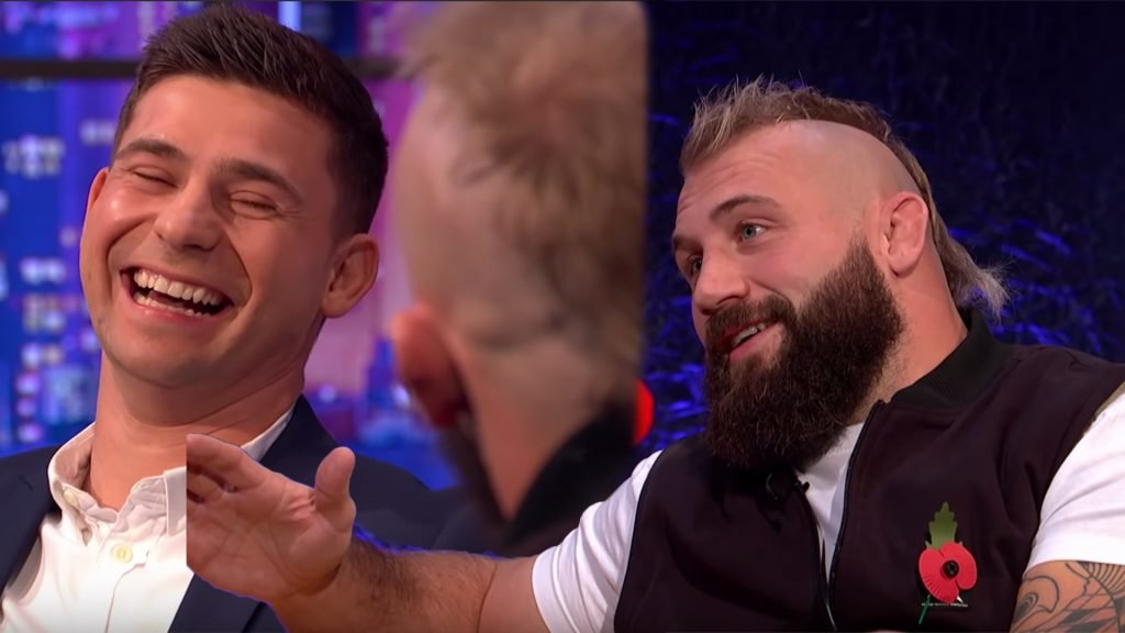 Joe Marler and England players hilariously explain reasoning behind V-Shaped haka formation on TV show