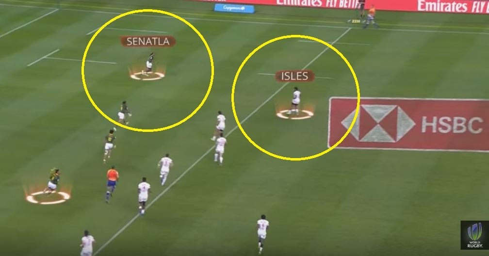 Senatla and Isles have had another stunning sprint off