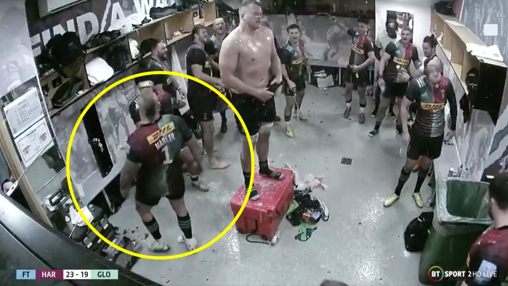 Footage of the Harlequins changing room celebrations is the best thing you'll see all week