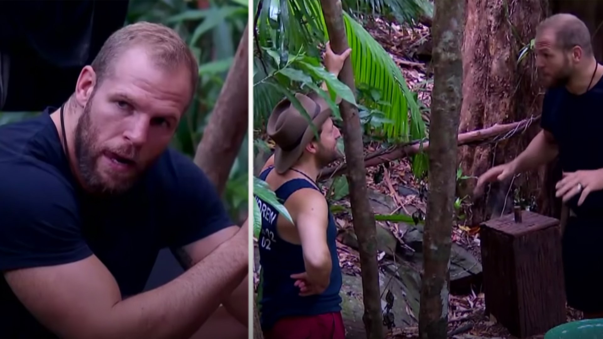 James Haskell is losing it with the contestants in the I'm a Celebrity Jungle
