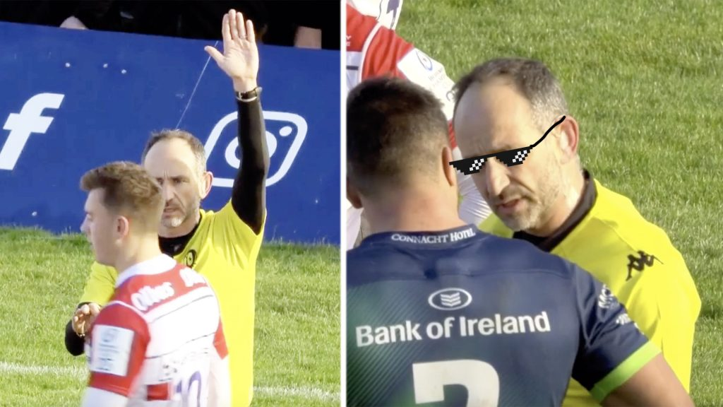 French referee Romain Poite is taking no s*** from nobody today and the Internet is loving it
