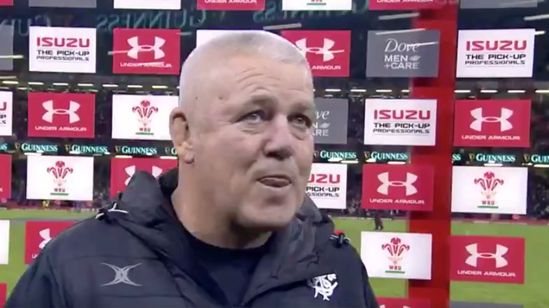 Warren Gatland's extremely wholesome final interview in Principality Stadium