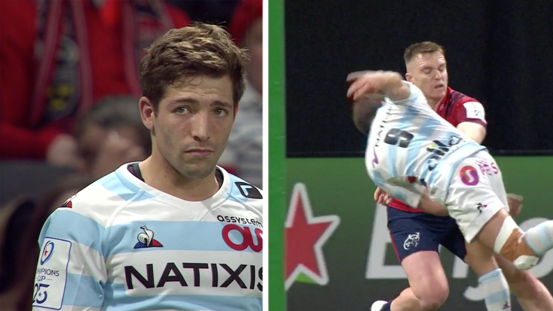 The scrum half for Racing 92 has just thrown the most disgusting pass of the century