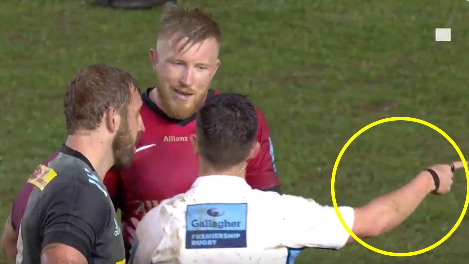 Saracens captain learns the valuable lesson that you NEVER disagree with a referee