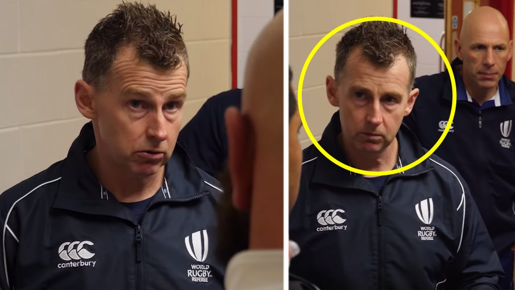 The incredible authority of rugby referee Nigel Owens is showcased in new documentary footage