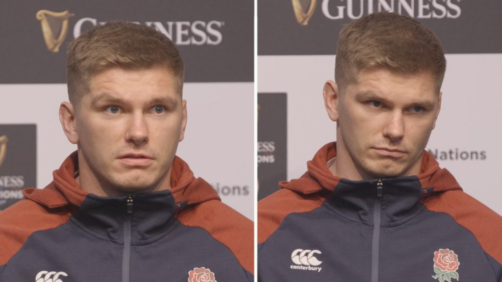 Owen Farrell met with barrage of questions from media about Saracens relegation