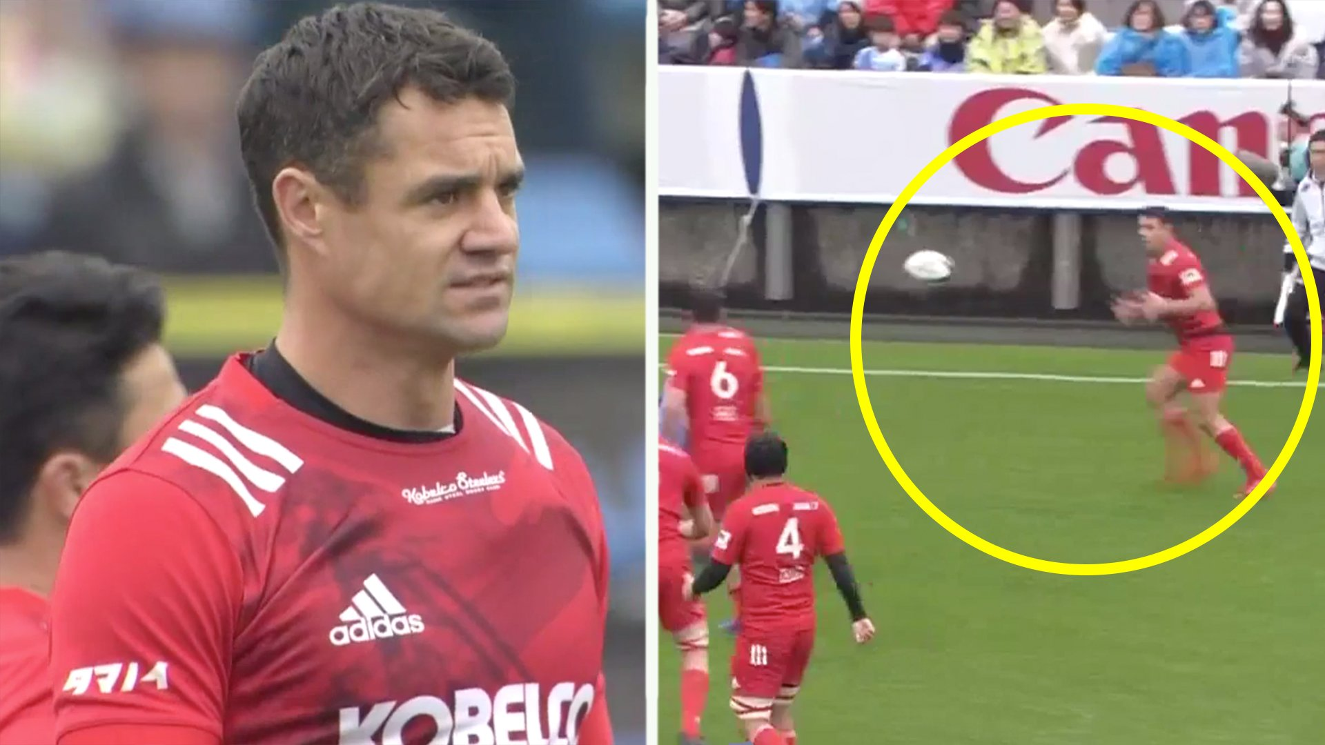 Rugby legend Dan Carter is hung out to dry by his team yet somehow still manages to do this