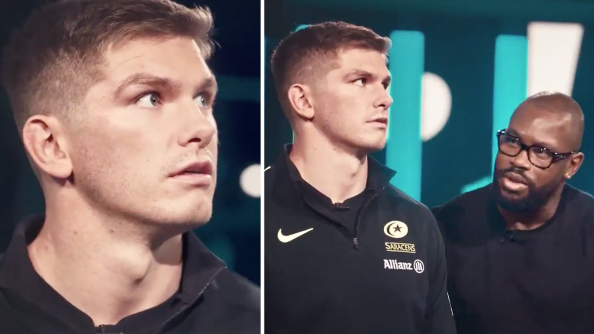 Rugby fans shocked as we see the funny side of Owen Farrell for the first time on TV
