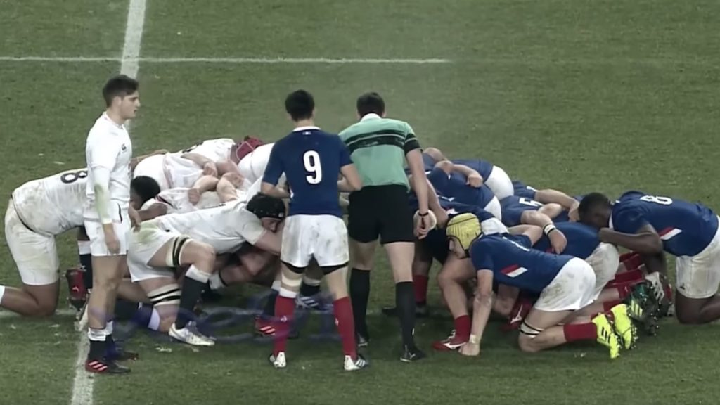French scrum completely obliterates English youngsters in dominant display