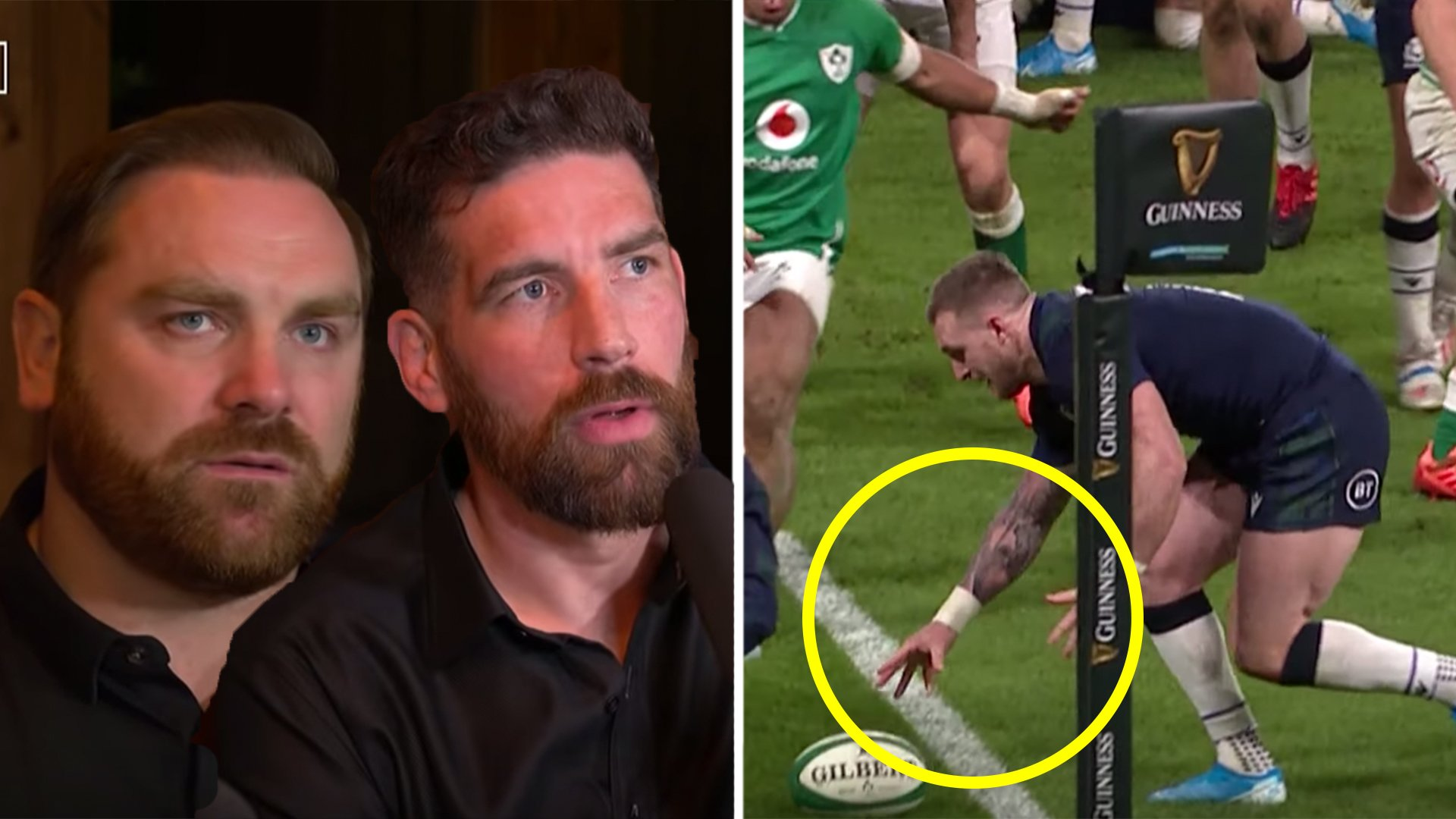 The reaction to the Stuart Hogg dropped ball on a Live Stream is utterly hilarious
