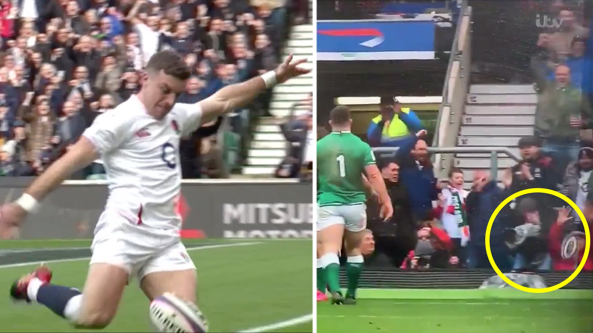 Fury as new angle reveals that George Ford slotted old man in the face with celebratory kick