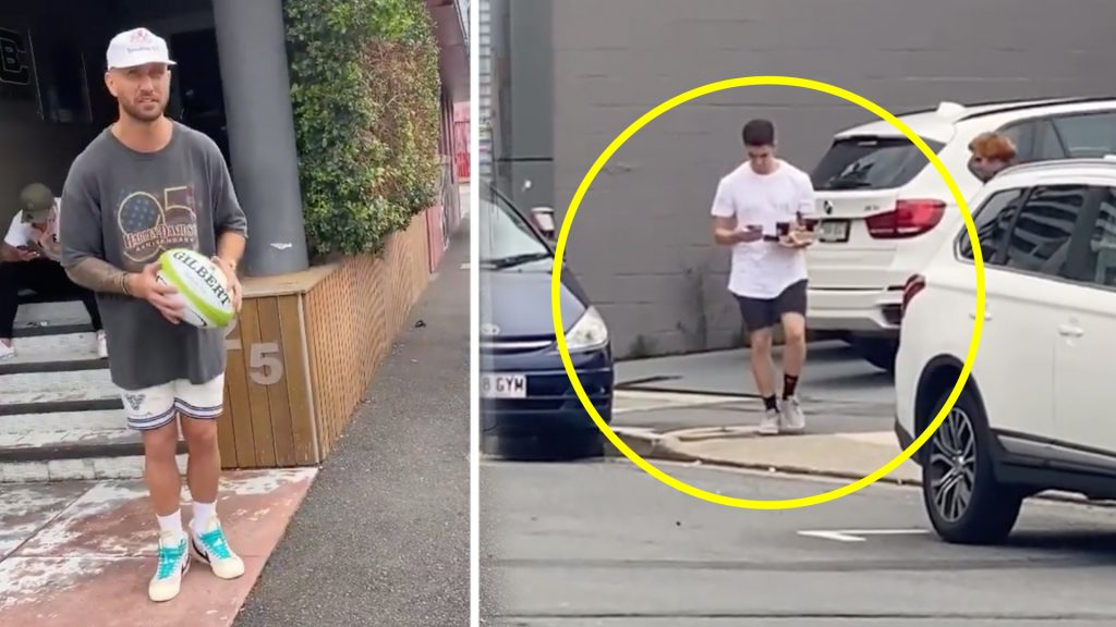 Quade Cooper may well have landed himself in hot water as  stunt video goes viral online