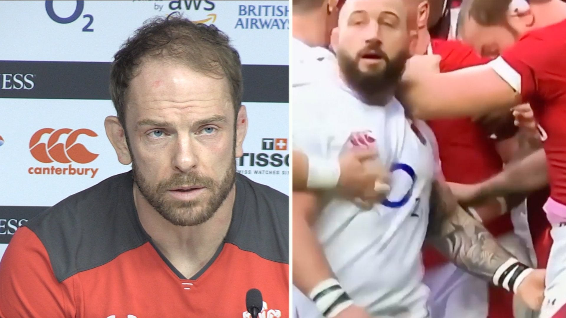 Alun Wyn Jones gives his frank opinion on what Joe Marler did to him in press conference
