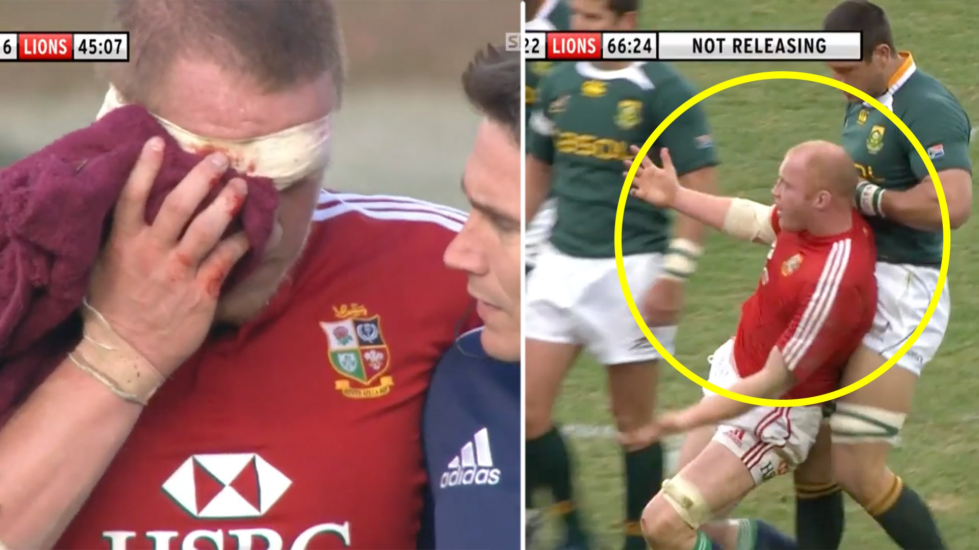 The Lions vs South Africa in 2009 was the only example of a team being properly bullied in rugby