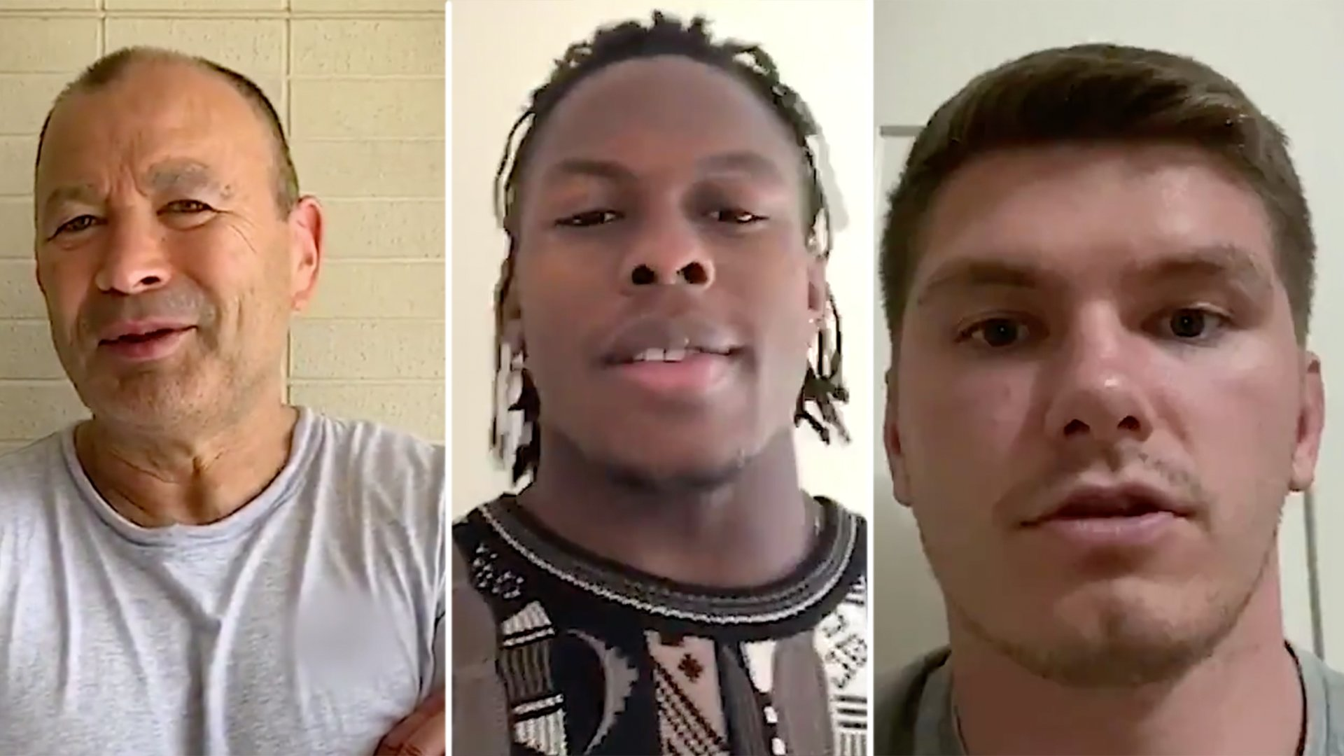 England rugby team leave emotional message for British public online