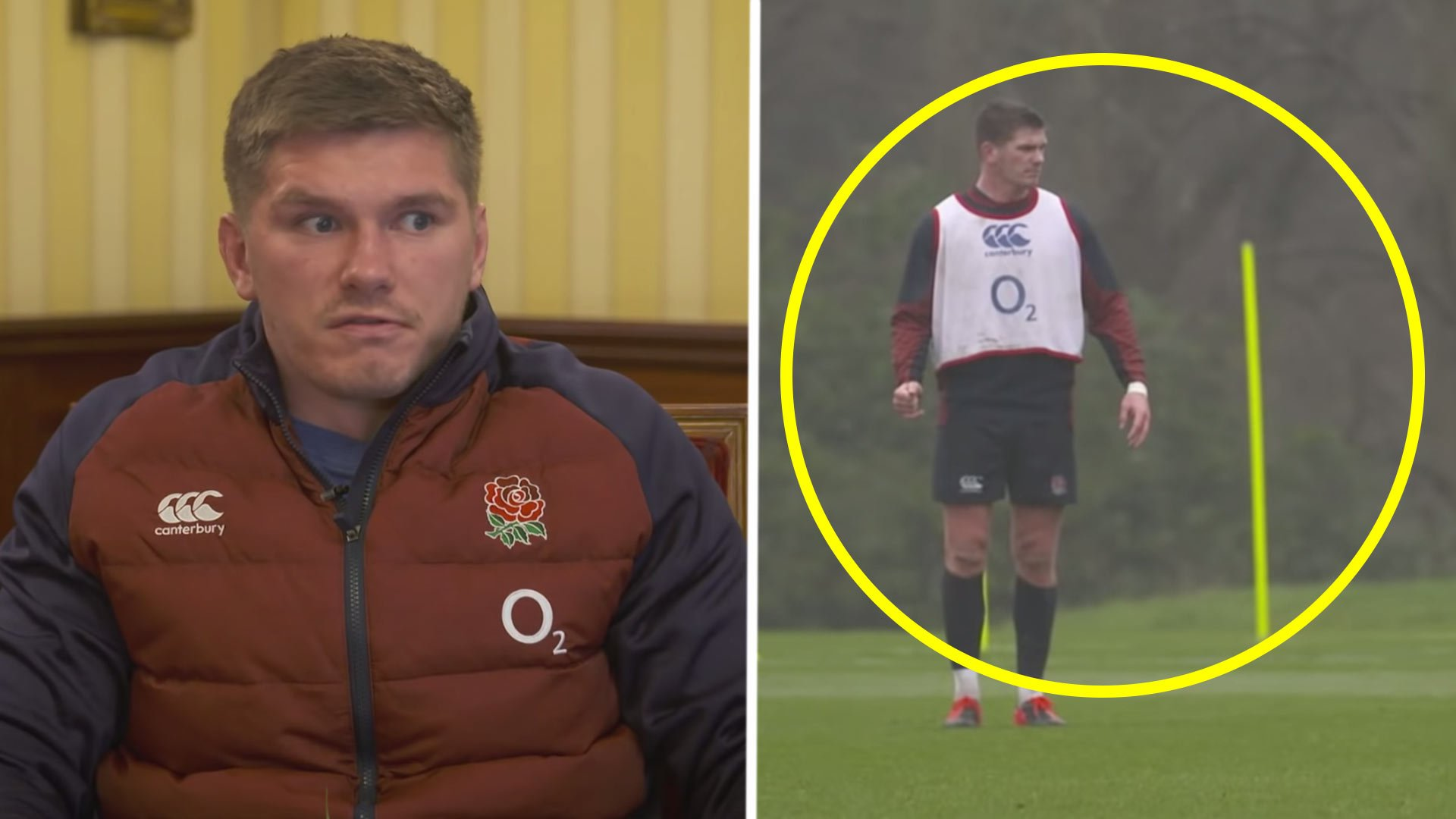 Footage of Owen Farrell mic'd up in training makes for insanely funny viewing
