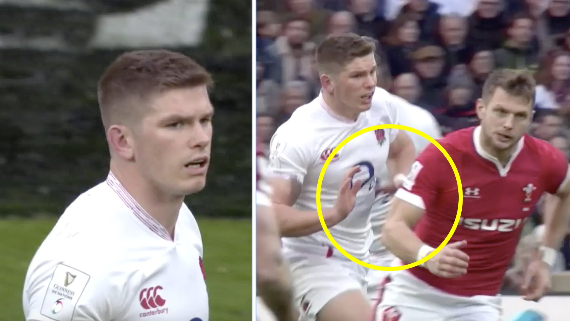 Rugby fans outraged as it is now clear ref missed Owen Farrell assault on Dan Biggar in Six Nations