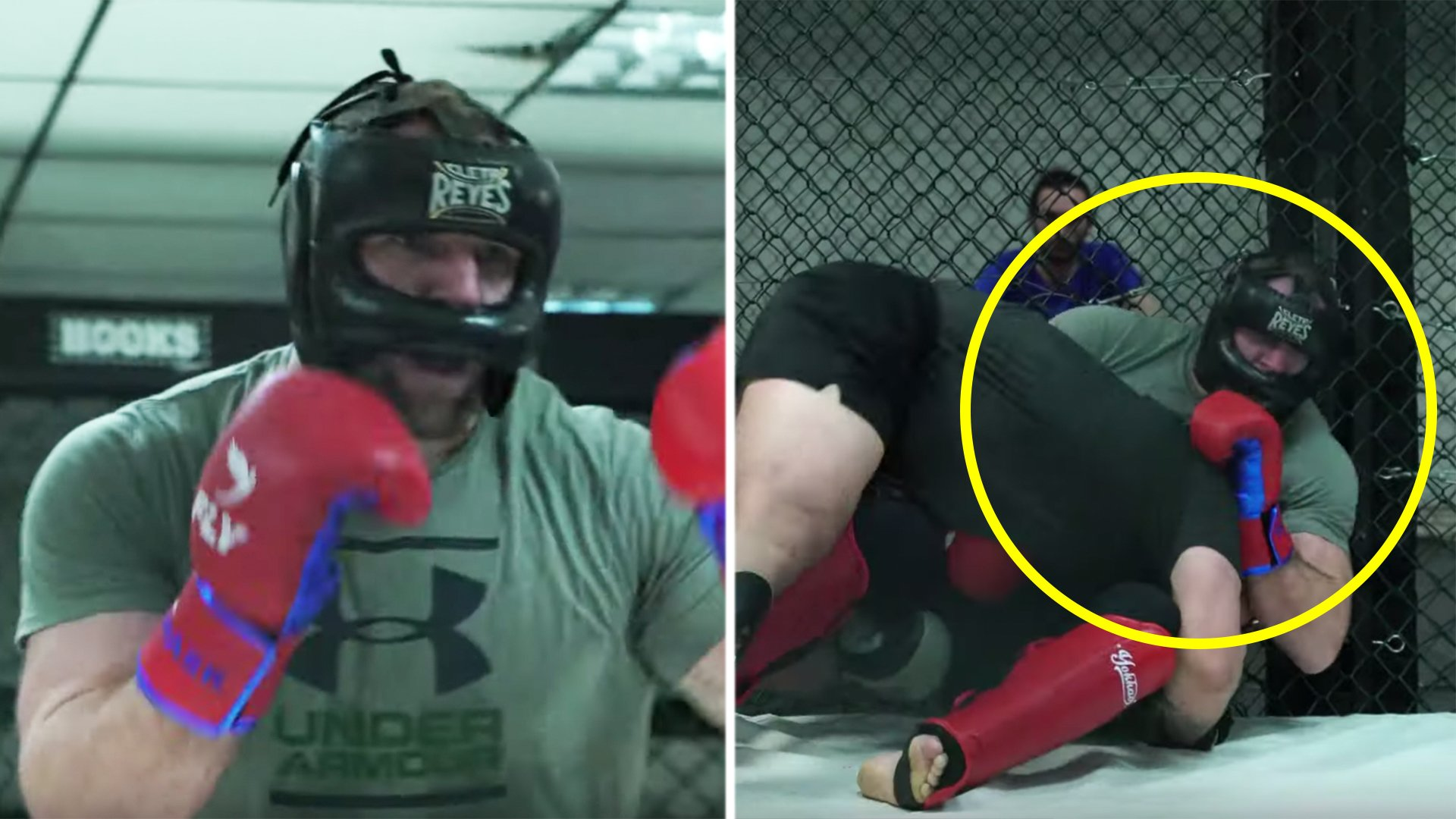 Is James Haskell actually good at fighting? First footage of former England star in cage revealed