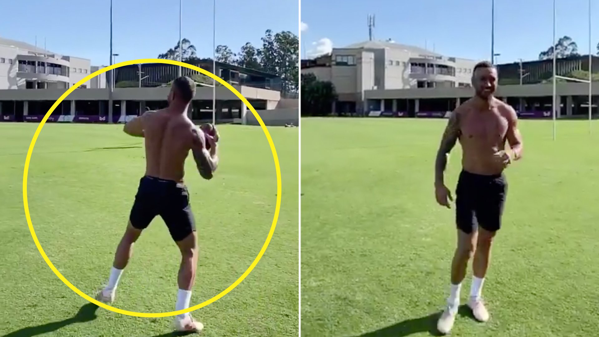 Quade Cooper proves rugby pass far superior to NFL overarm throw