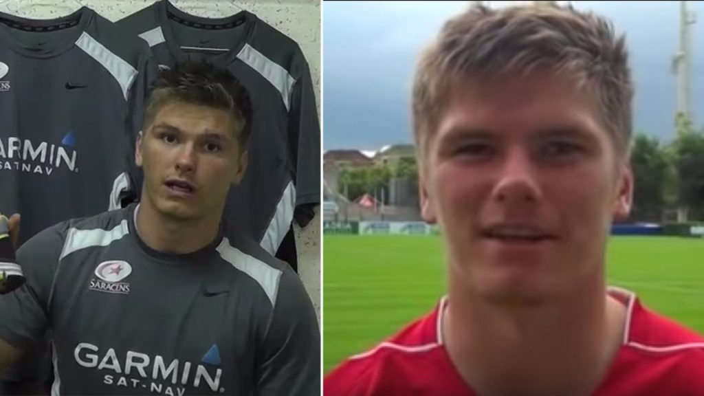Rare footage of Owen Farrell before he was media trained has been found