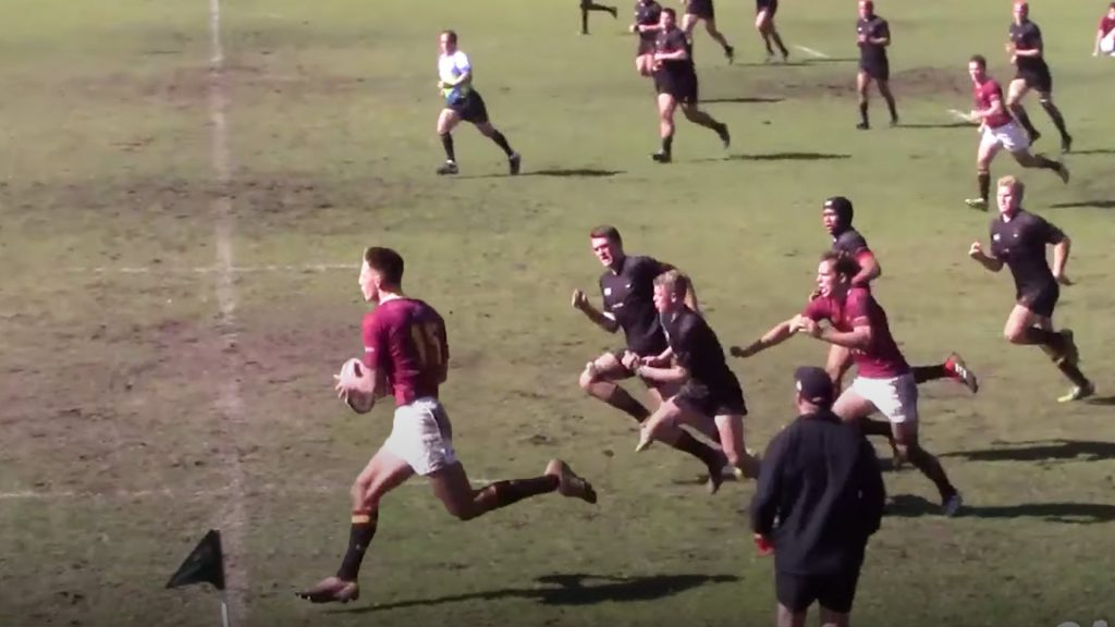 The freakish size of South African rugby players is clear to see in school highlights video