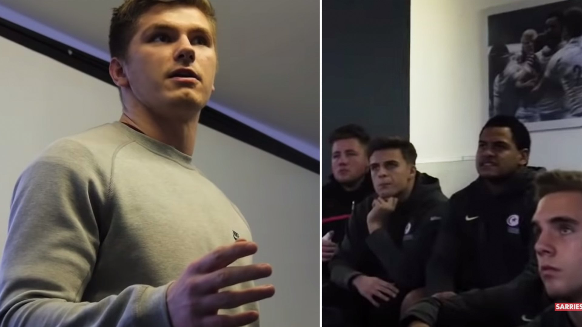 A secret video of Owen Farrell's team talk to young rugby team is taking over the Internet