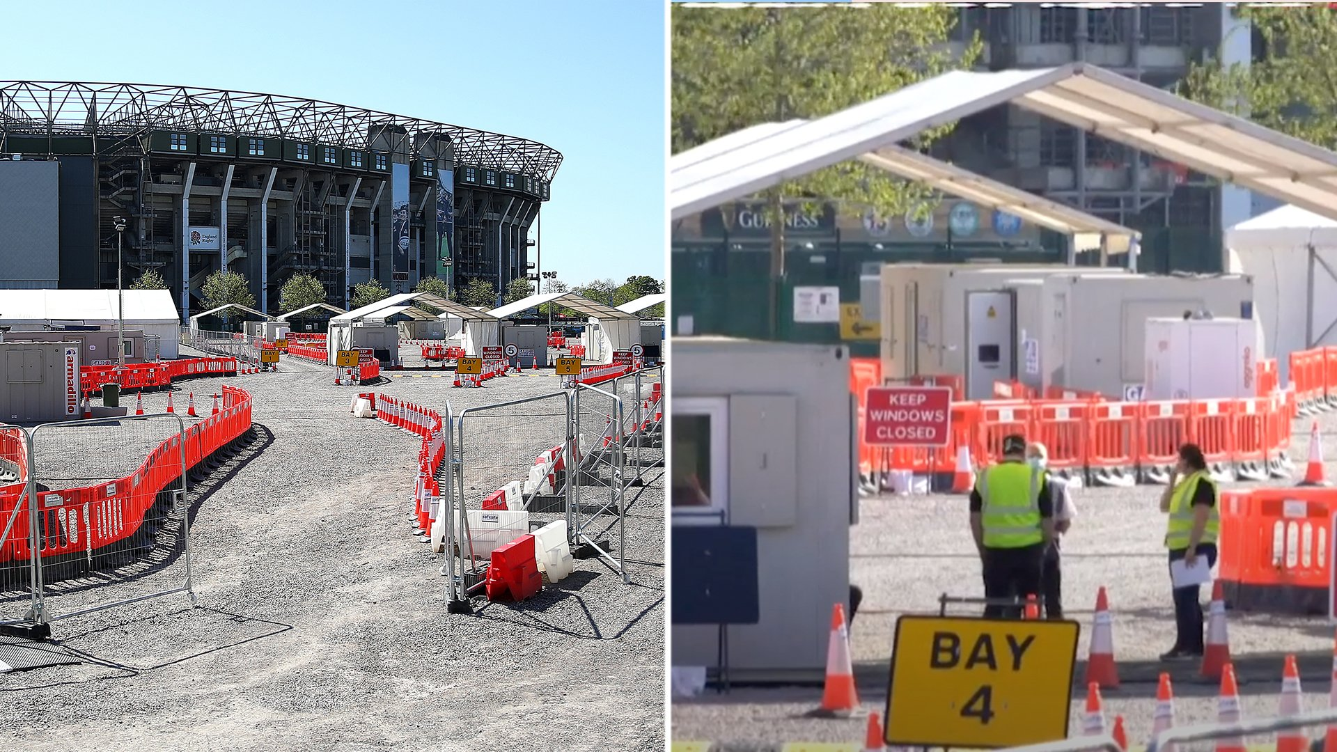 Eerie new video shows how Twickenham stadium has been transformed in London