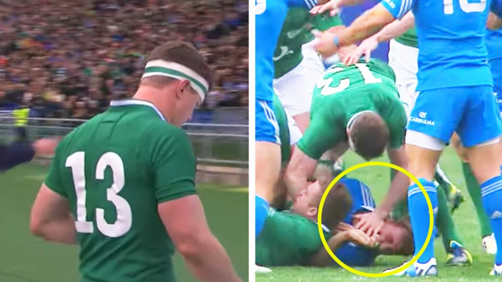 The out of character act by Brian O'Driscoll that blotted his otherwise clean record