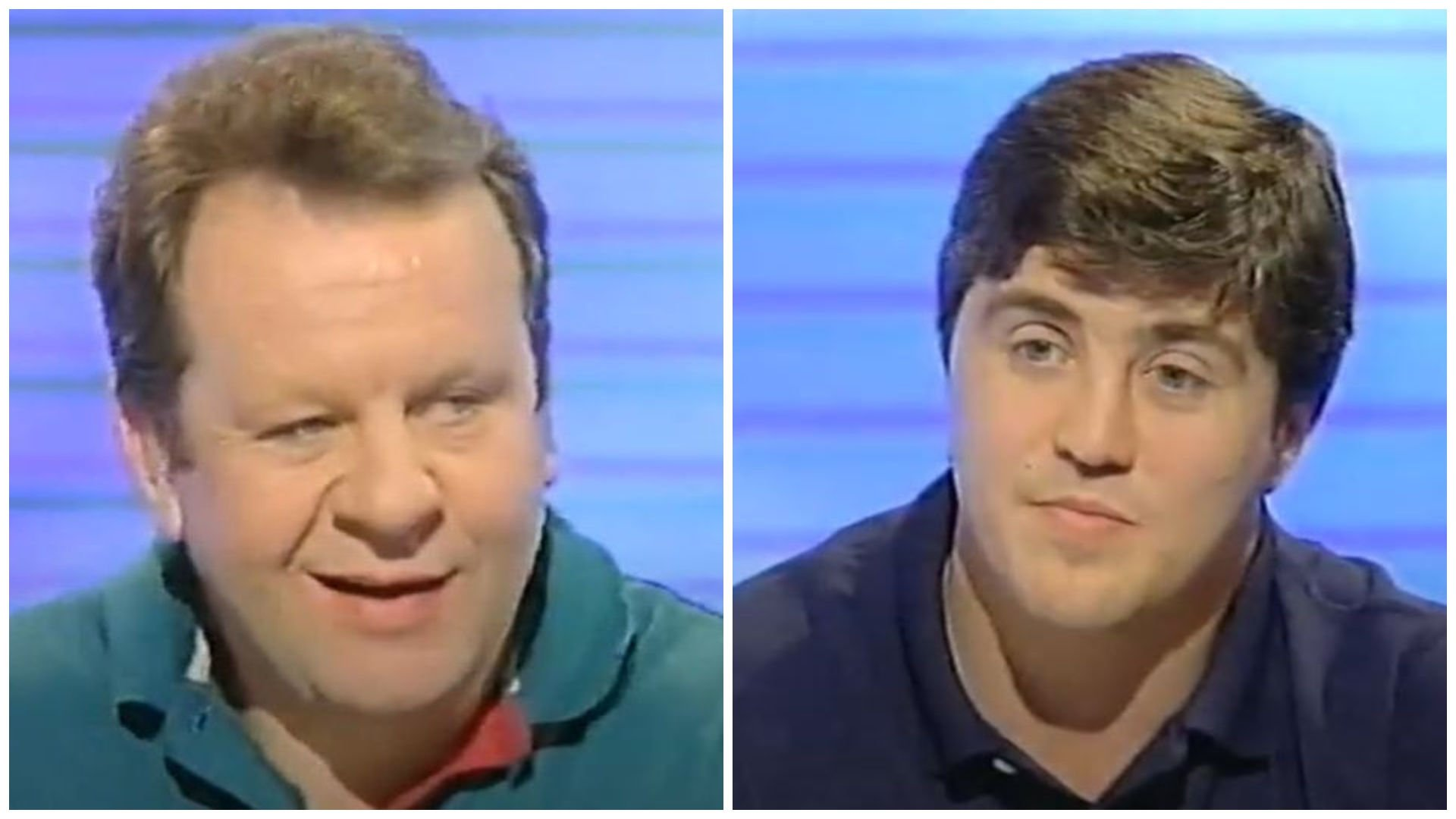 Authoritative and masterful Bill Beaumont belittles Stuart Barnes with devastating IQ on 1993 quiz show