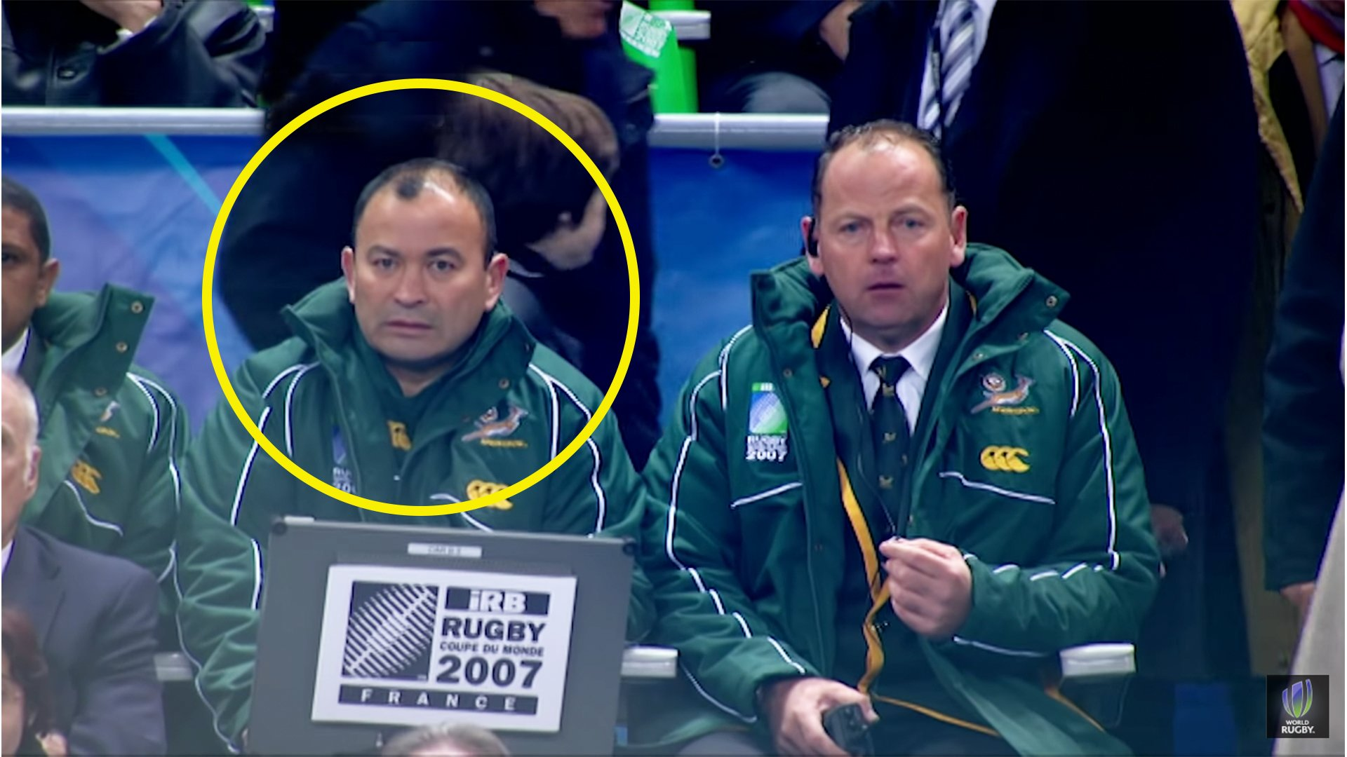 The only moment in the 2007 World Cup final where South Africa were truly stunned