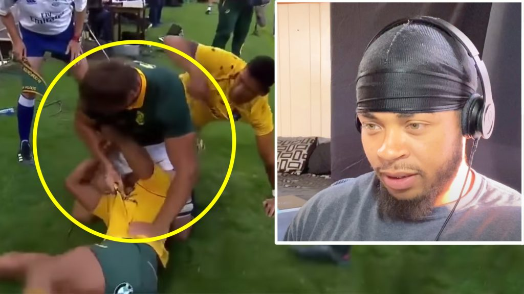 American watches Eben Etzebeth for the first time and he's in total disbelief