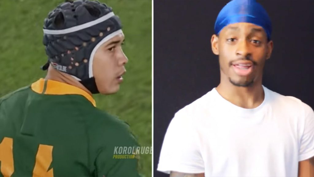 American vlogger loses his mind when he reacts to Cheslin Kolbe for the first time