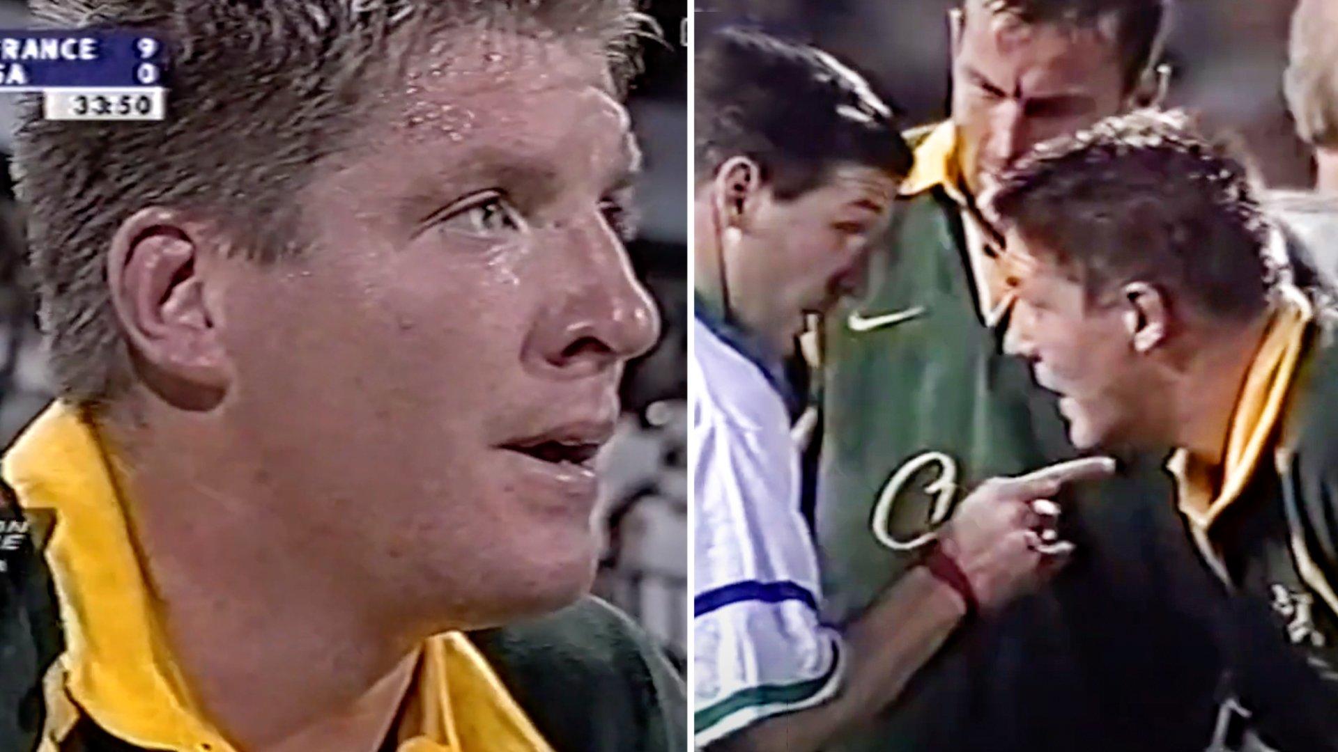 Terrifying footage of Bakkies Botha debut shows that he's always been the Enforcer