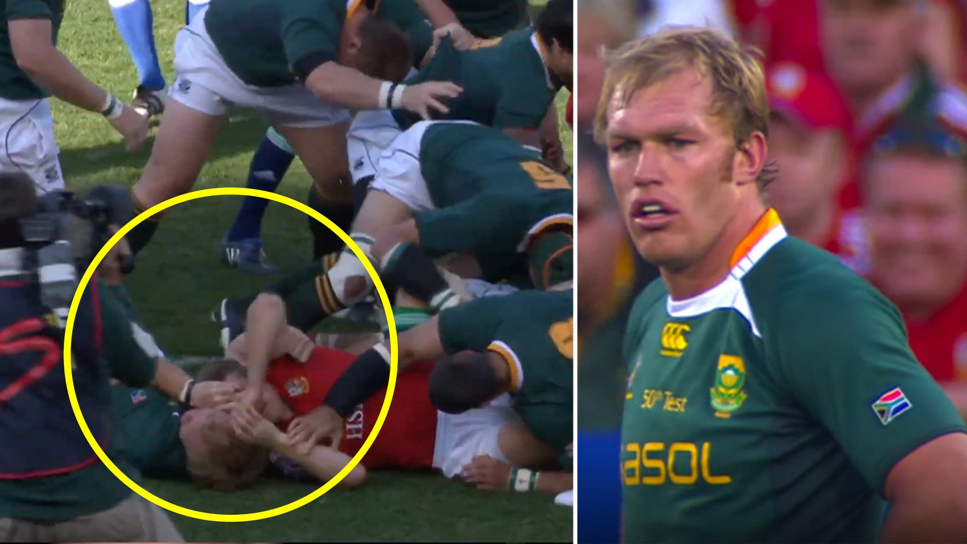 Full footage has been released of the Schalk Burger thuggery which ruined his reputation