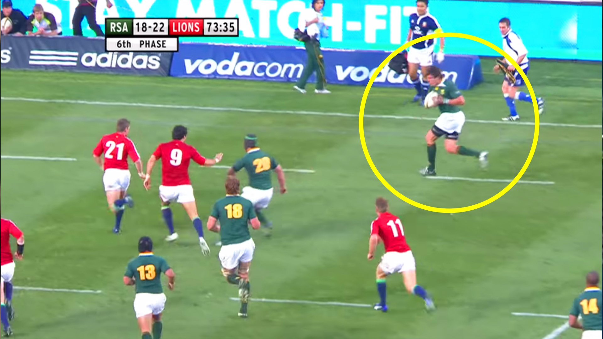 The single greatest solo finish in rugby history