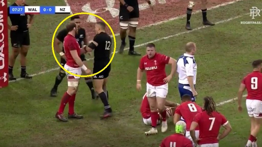 The moment when Alun Wyn Jones made Sonny Bill Williams his B****