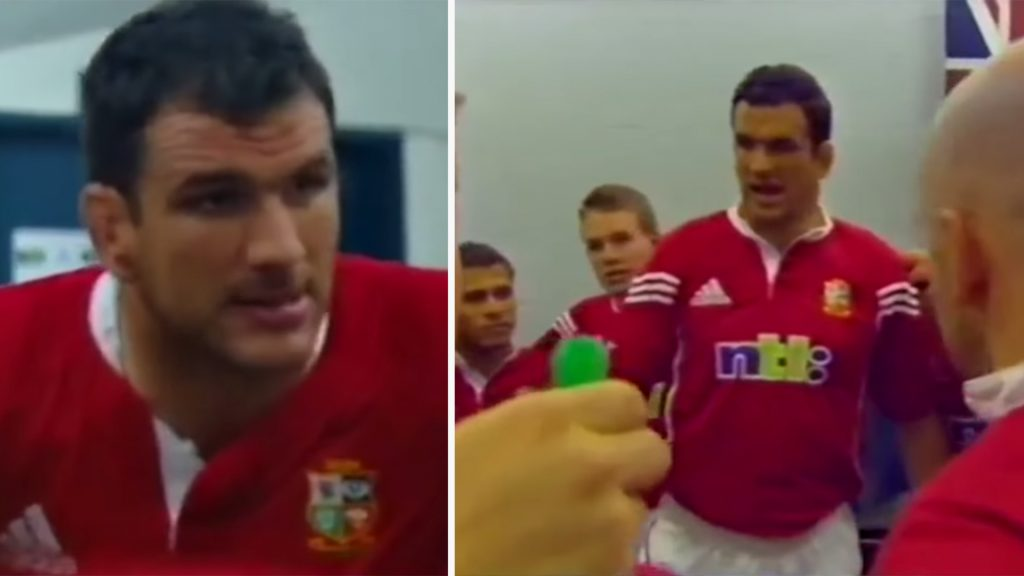 Previously unseen footage of Martin Johnson team talk is evidence of just how intimidating he is