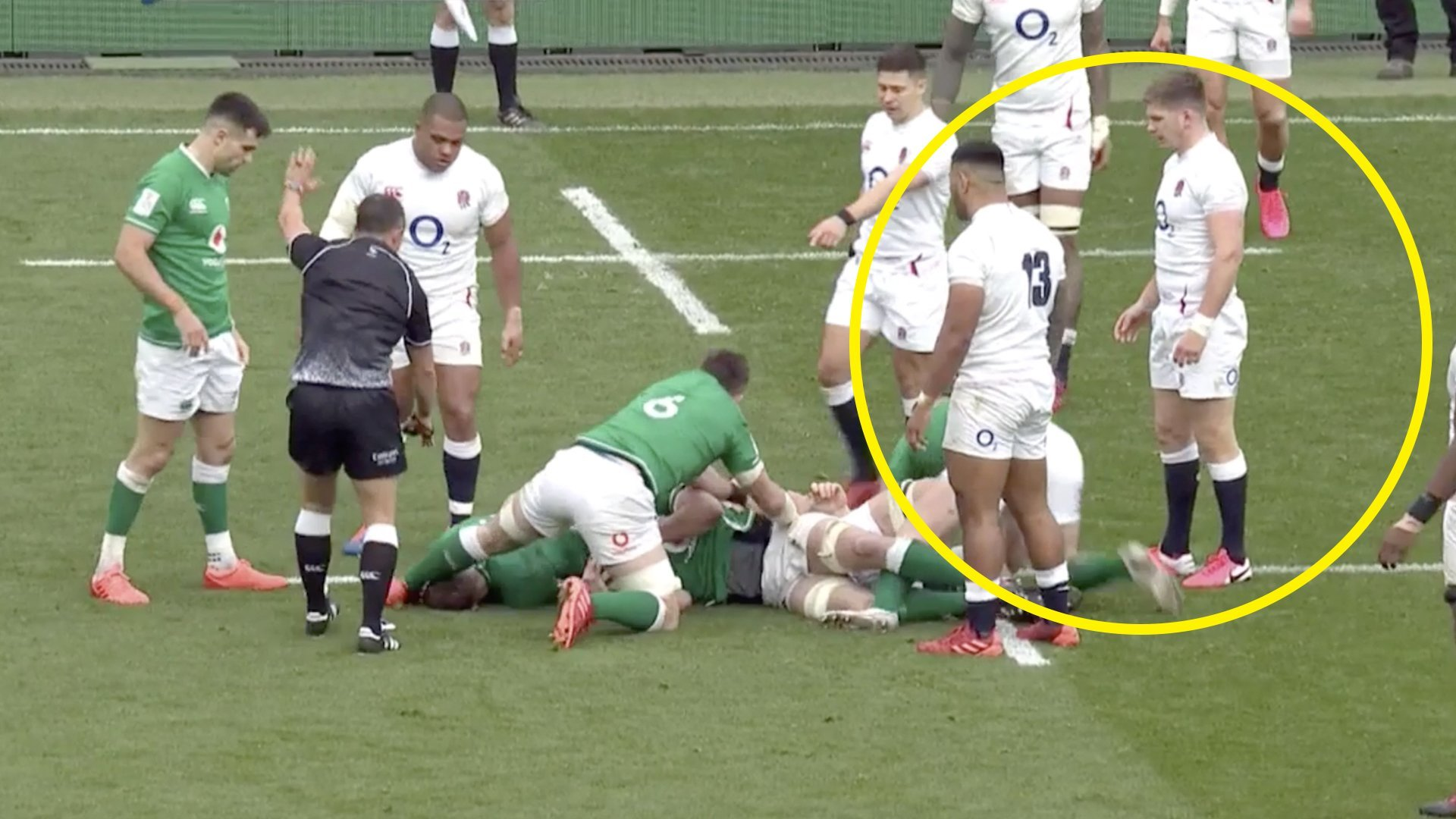 Owen Farrell's reaction when he saw Larmour injured tells you everything about what he's really like