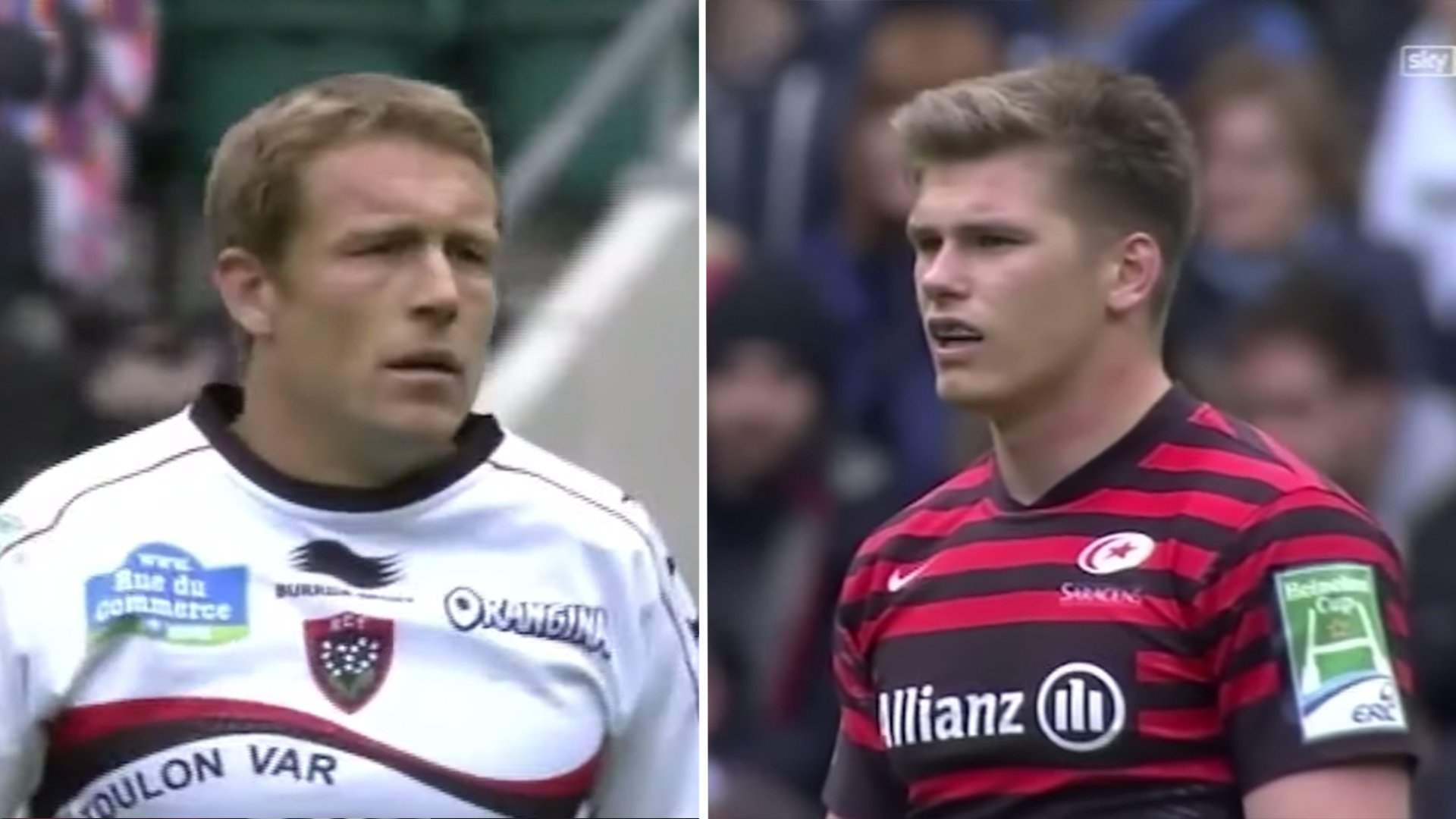 Toulon have just released full footage of the moment when Jonny Wilkinson put Farrell back in his place